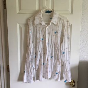Couture The Clothing Company Sheer Shirt Sz XL